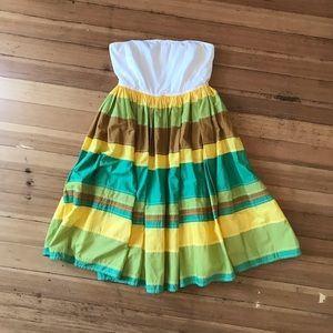 J. Crew strapless, full skirt dress. NWT. Size (8)